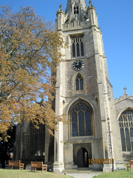 The main church in Saffron Walden, built in the perpendicular style in 1450