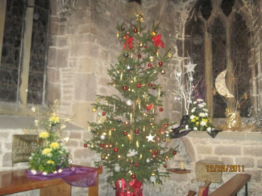 Christmas tree in our church