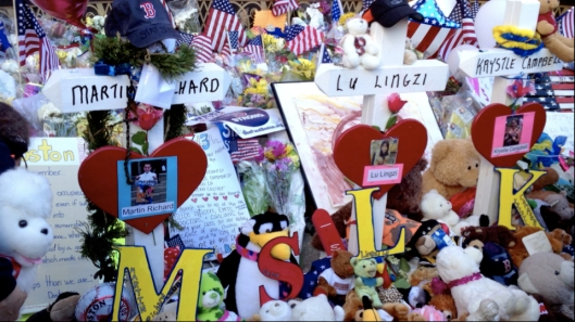 Remembrances for the two women and young boy, and the MIT police officer.