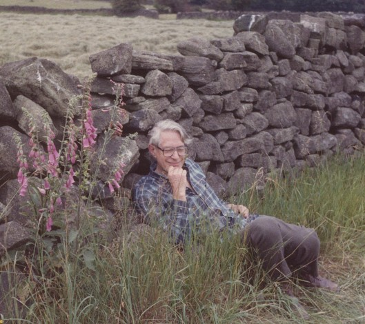 My father, Joe Smith, on his father's farm in Derbyshire, England