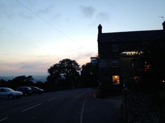 The Cliff Inn at night