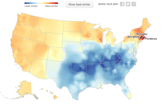 My results from the dialect map