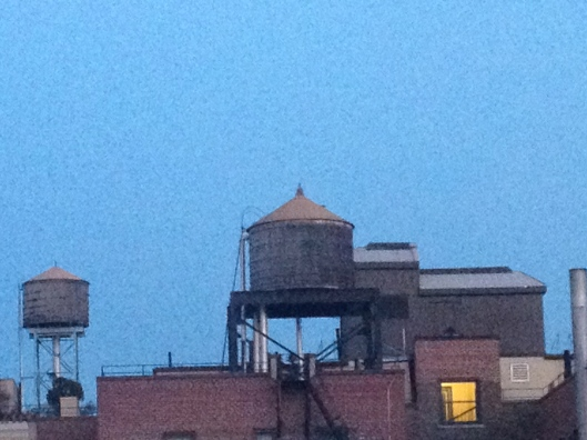 Water towers over Broadway, Upper West Side of Manhattan