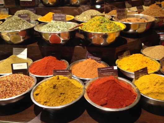 Spices from around the world.