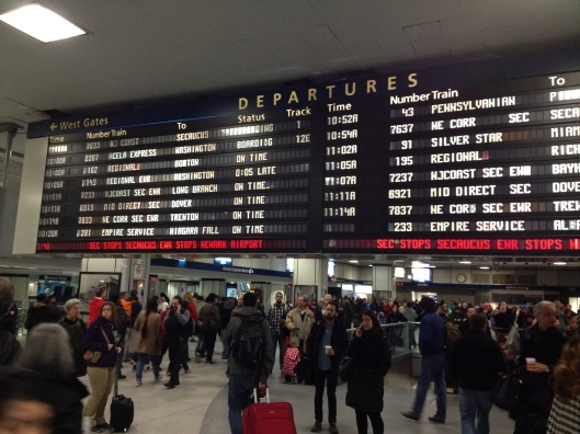 --The big board at Penn Station, New York