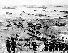 Allied troops on Normandy beaches