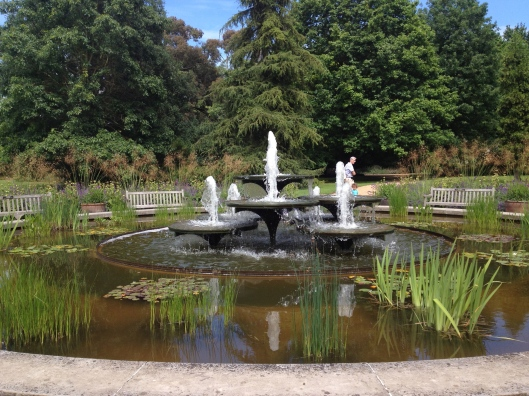 fountains at the Botanical Garden