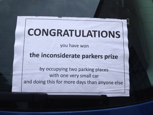 inconsiderate driver note