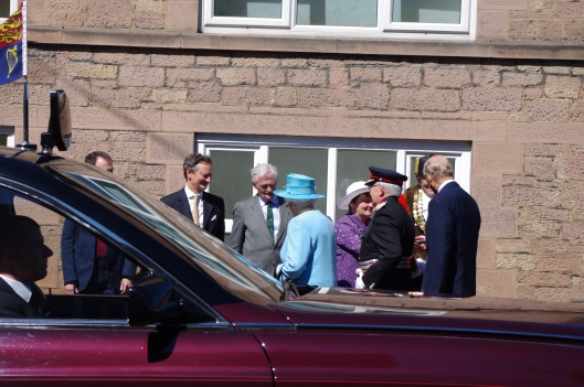 The Queen and Prince Philip at Lea Mills