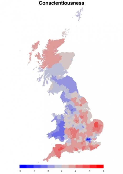 Mapping the Great British personality